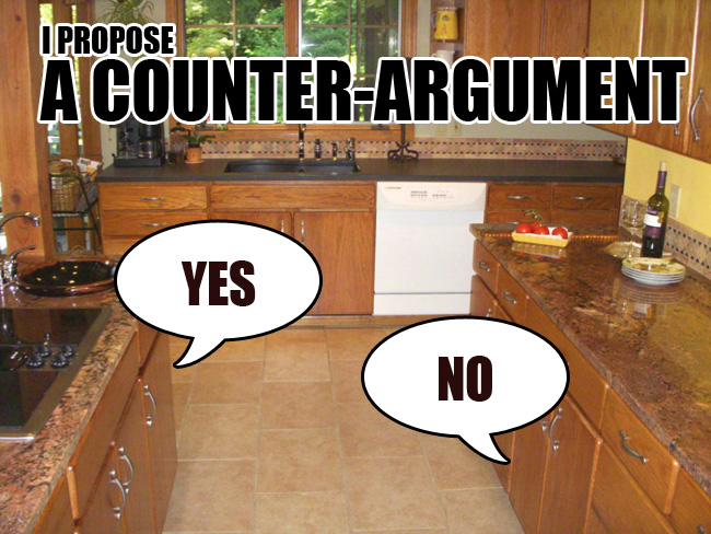 Argumentative essay with counter argument transition